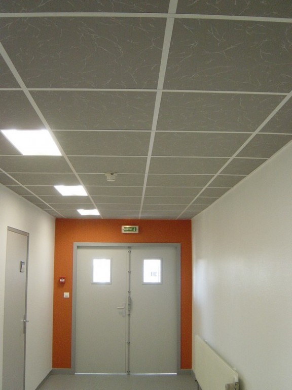 Installation plafonds suspendus en alsace meyer isolation for Plafond suspendu cuisine